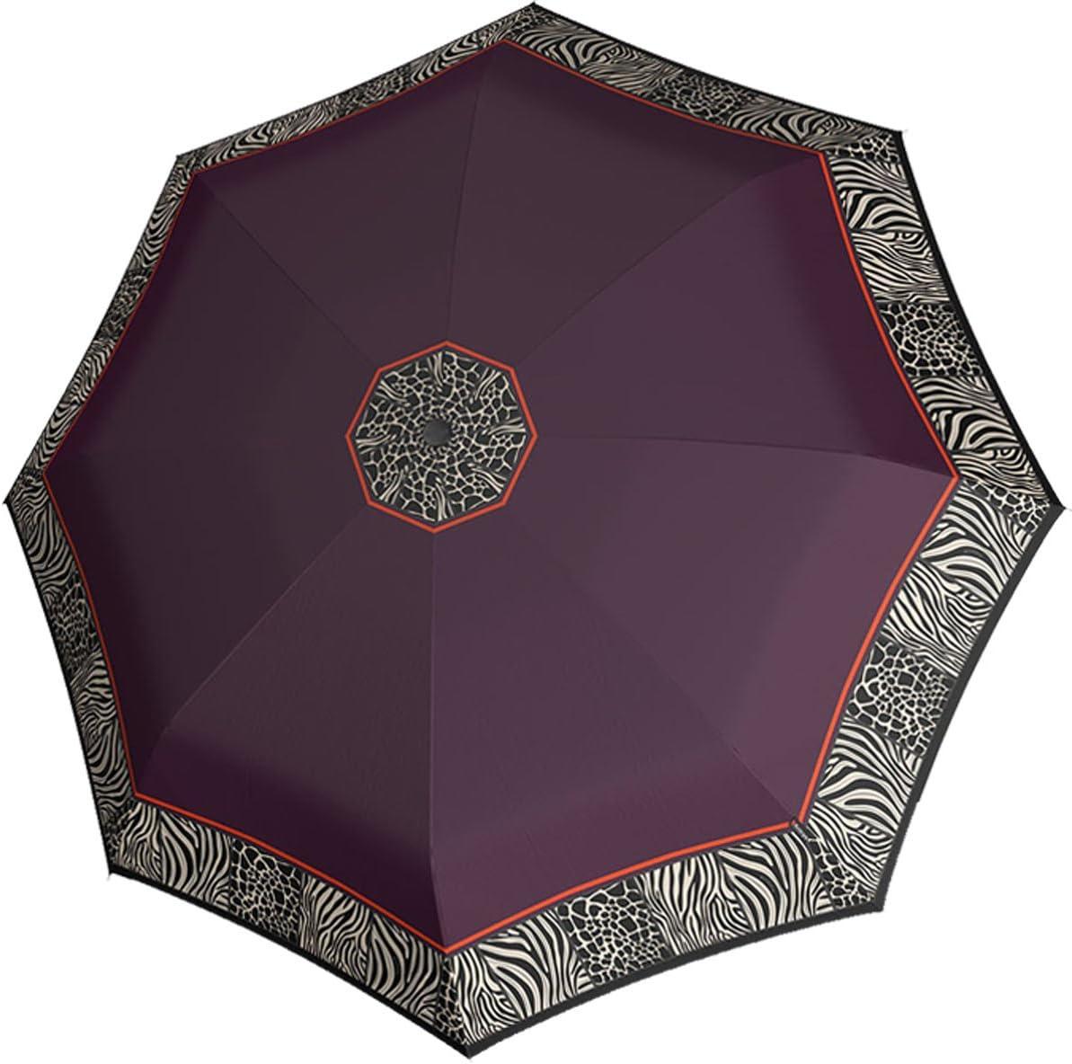 Violet pourpre - 878-6462 Knirps T2 Duomatic African Parapluie de poche en fibre de verre