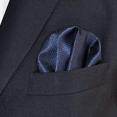 Designer Einstecktuch aus Seide in schwarz weiß mit Krähenfuss-Muster
