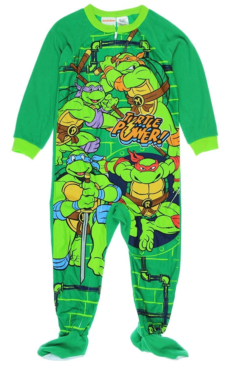 Teenage Mutant Ninja Turtles Little Boy Footed Sleeper Blanket Pajama Size 5T
