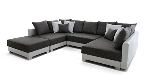 150281 Antiebes Wohnlandschaft In U Form Ecksofa Materialmix 169 X