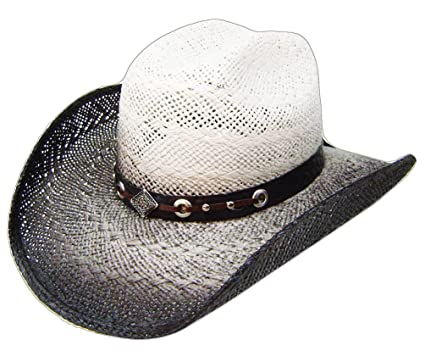 95d87947dcd Image Unavailable. Image not available for. Color  Modestone Straw Cowboy  Hat Grey