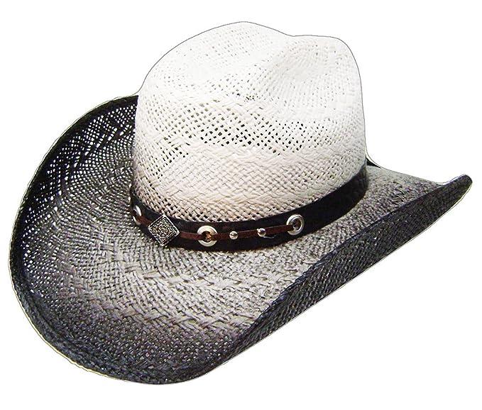 Modestone Straw Sombrero Vaquero Grey  Amazon.es  Ropa y accesorios 3d7b536f765