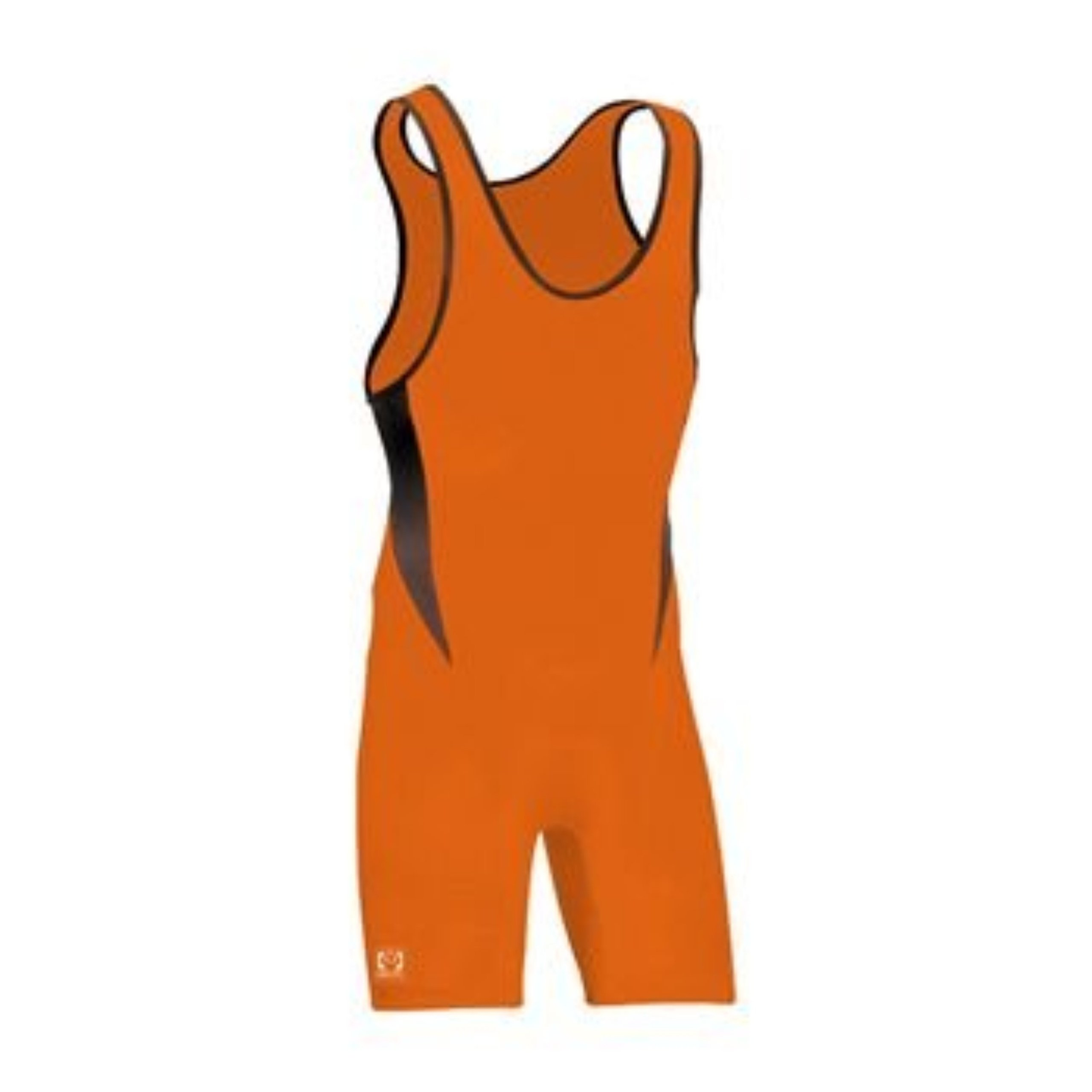 Brute Bolt Wrestling Singlet - SIZE: X-Small, COLOR: Orange/Black [Apparel]