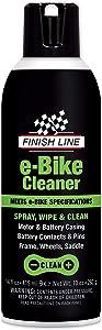 Finish Line E-Bike and Exercise Bike Cleaner Aerosol, 14 oz, Black