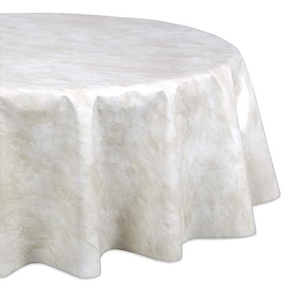 Tischdecke Meterware Wachstuch abwaschbar beige marmor