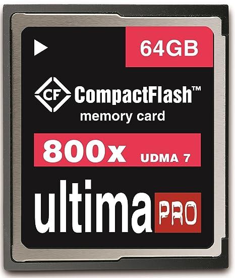 64 GB 120MB Memzi/s - 800 x Ultima Pro Compact Flash tarjeta ...