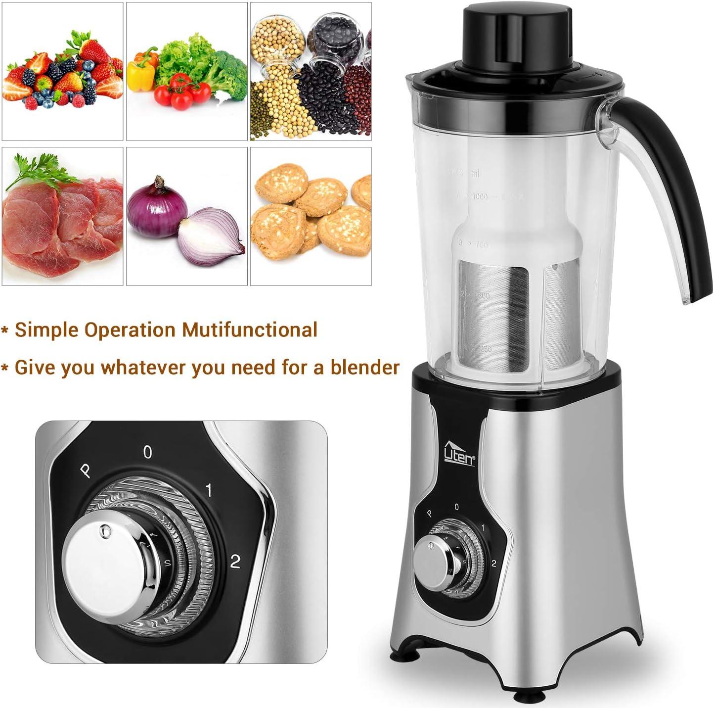 5in1 Smoothie Maker Standmixer Küchenmaschine Rührmaschine  Mixer Milchshaker DE
