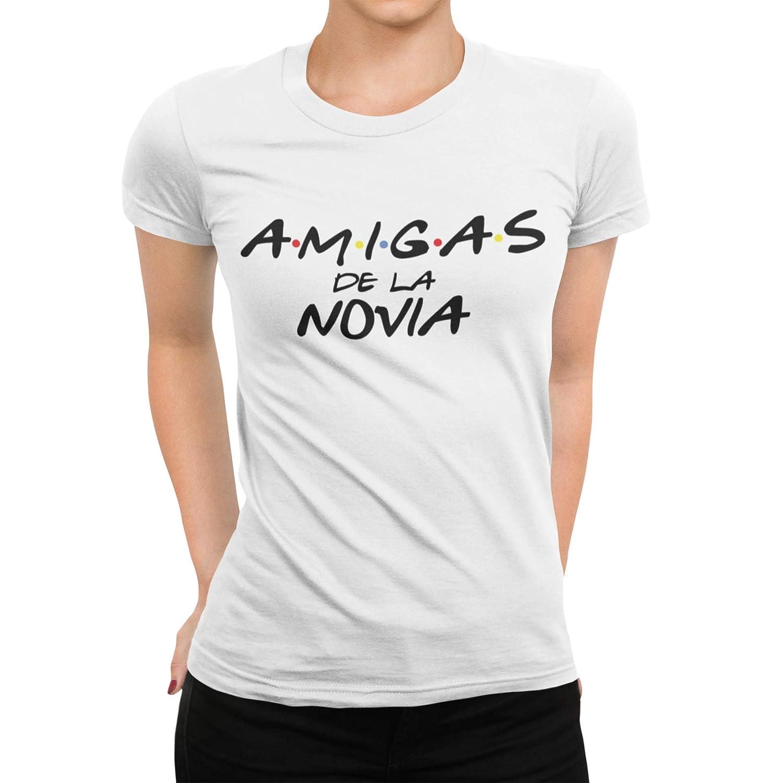 Camiseta despedida Amigas de la novia divertida friends Mujer: Amazon.es: Handmade