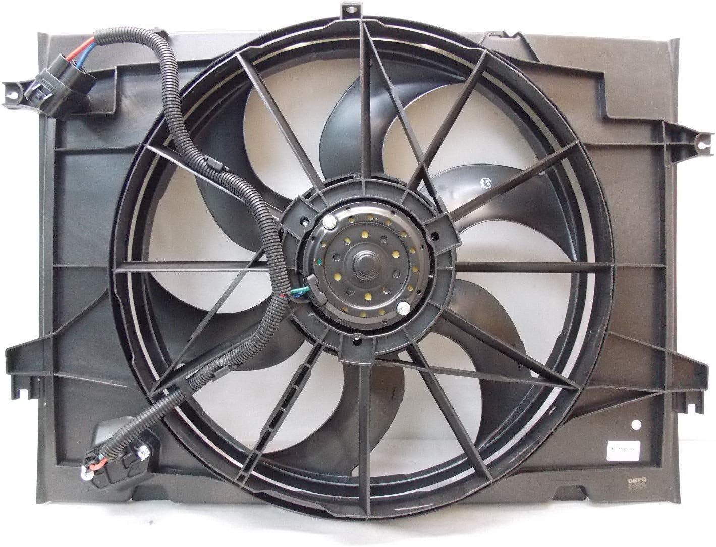 Automotive Cooling Radiator And Condenser Fan For Hyundai Tucson Kia Sportage KI3115115 100% Tested