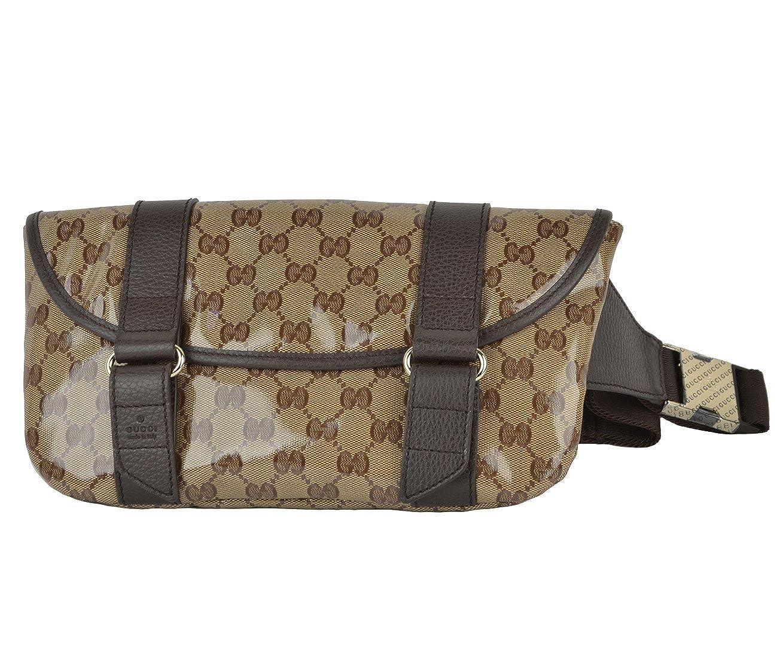 a838ae84698 Gucci Waist Belt Bag 374617 Signature Crystal GG Guccissima Logo Fanny Pack   Amazon.co.uk  Clothing