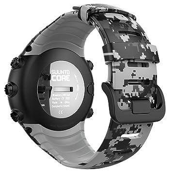 MoKo Banda de Reloj para Suunto Core - [Rombo Serie] Correa Reemplazo de Silicona