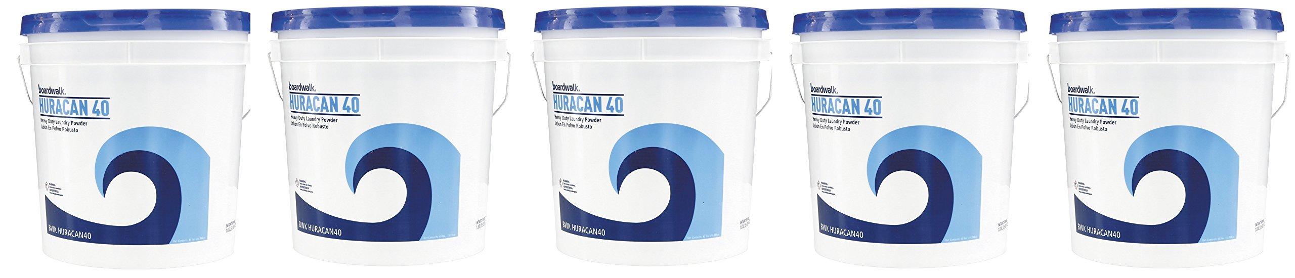 Boardwalk HURACAN40 Low Suds Laundry Detergent, Powder TGAUQs, 5 Pack (40lb.) by Boardwalk