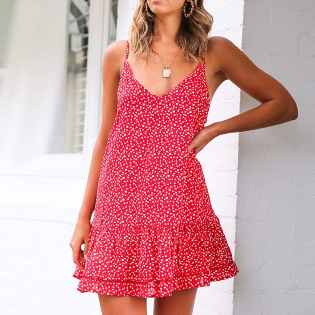 Womens Printing Off-Shoulder Sleeveless Short Mini Dress Princess Dress Evening Party Dress