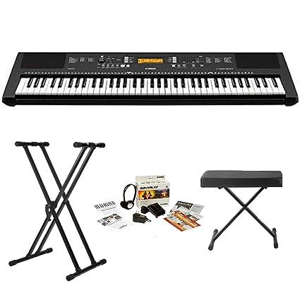 fc0addd7956 Amazon.com  Yamaha PSREW300 76-key Portable Keyboard With Knox Stand Knox  Bench and Yamaha Power Supply  Musical Instruments