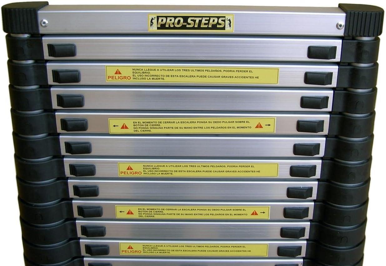 Escalera telescópica 4.4 mtrs marca Pro-Steps: Amazon.es: Bricolaje y herramientas