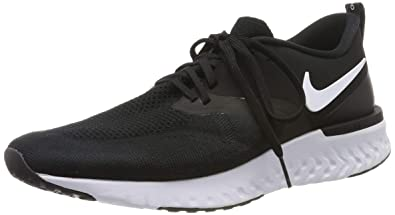 separation shoes ab73a 8abf9 Nike Men s Odyssey React 2 Flyknit Black White Mesh Running Shoes 7.5 ...