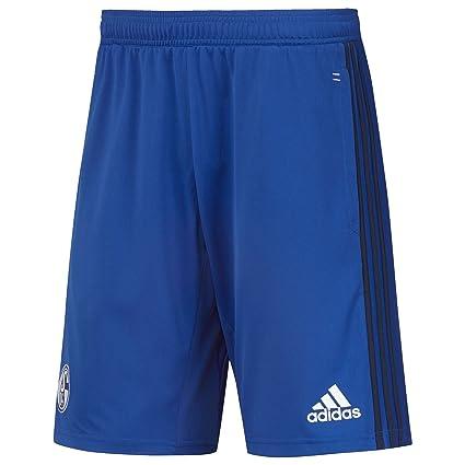Details zu Adidas Fußball FC Schalke 04 S04 Trainingsshorts Hose Kinder blau dunkelblau