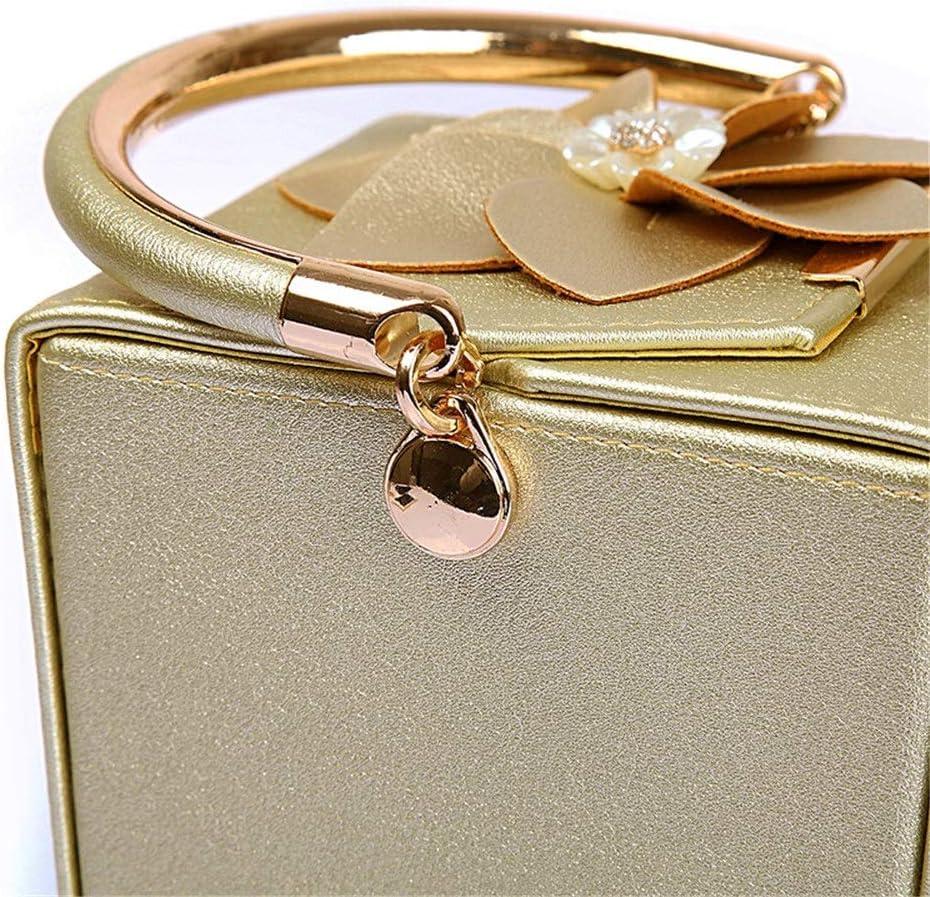 Lisansang Borsa da Sera da Donna Borsa a Tracolla da Donna Borsa da Sposa a Tracolla da Sposa Borsa da Sposa a Tracolla da Sposa (Color : Gold) Gold