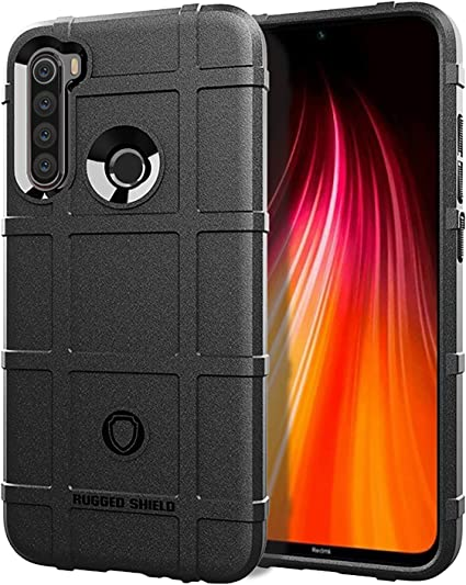 Amazon Com Case For Redmi Note 8 Case Black Rugged Shield Texture 360 Full Protection Shock Absorption Anti Fall Military Grade Premium Hybrid Rubber Defender Case Cover For Redmi Note 8
