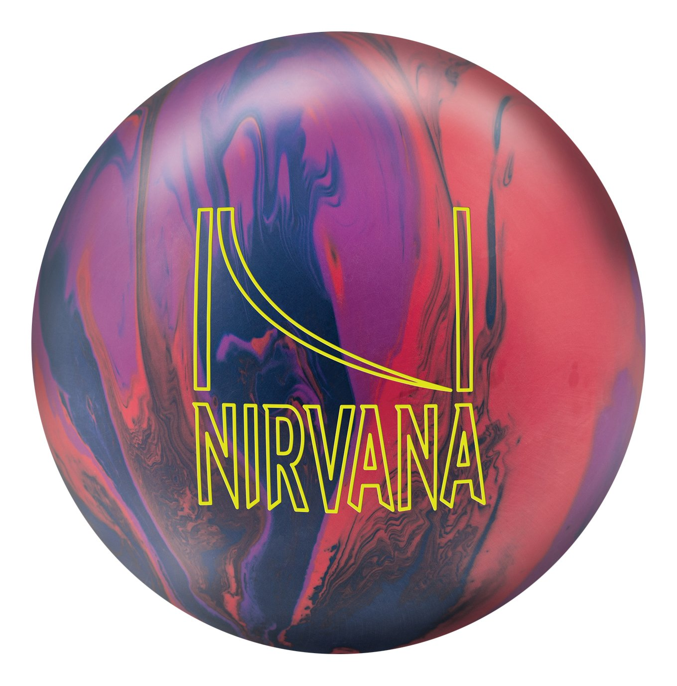 Brunswick Nirvana Bowling Ball, Red/Blue/Violet, 15 Lb