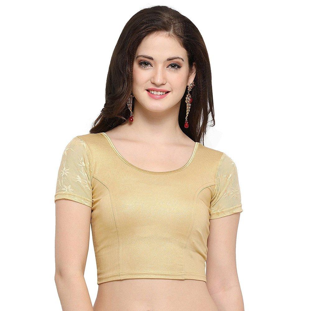 Vyka Studios Cotton Lycra Stretchable Blouse For Women(Free Size)