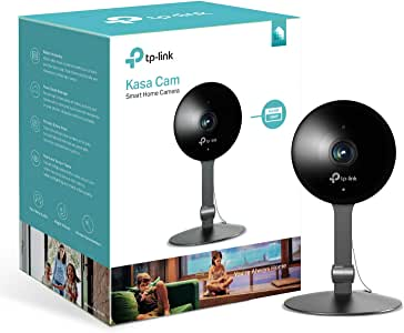 tp-link Kasa Smart Security Camera, Baby Monitor, Indoor CCTV, No Hub Required, Works with Alexa (Echo Spot/Show and Fire TV), Google Home/Chromecast, 1080p, 2-Way Audio with Night Vision(KC120)