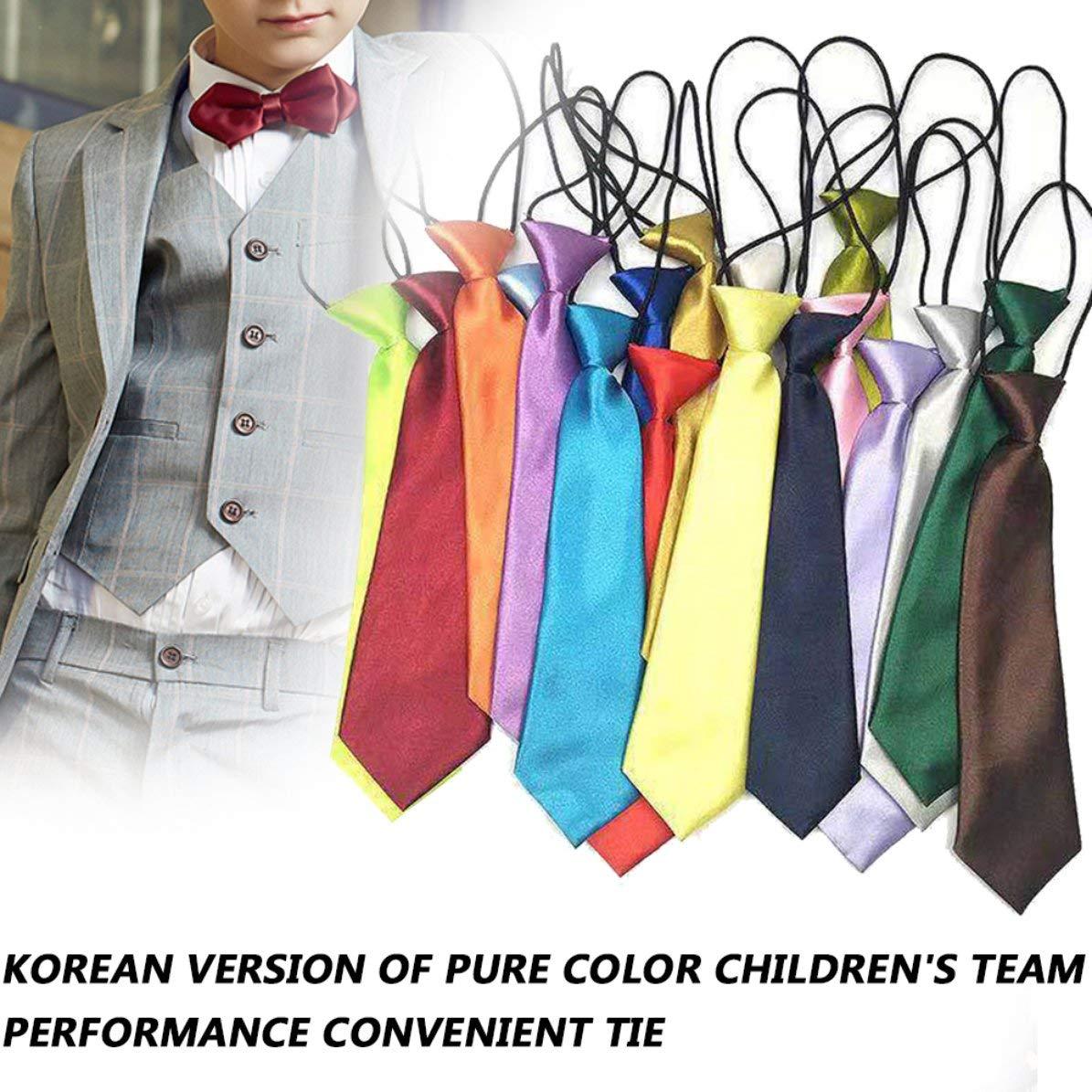 Sunnyflowk School Boys Niños Niños Bebé Boda Color sólido Corbata ...