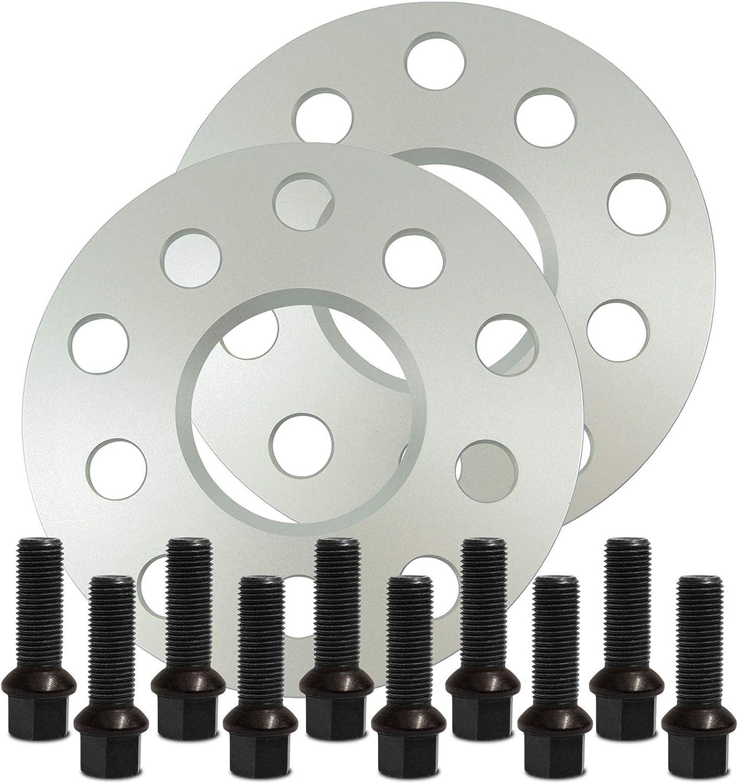SilverLine Spurverbreiterung 30mm 15mm 12119E/_52/_M1415KU43S mit Schrauben silber 5x112 57,1mm