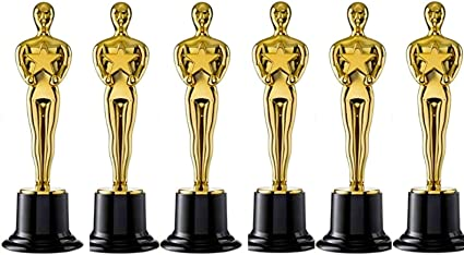 """Oscar Statues Gold Award Trophy for Winners Movie Ceremony 24 Pack Plastic 6/"""""""