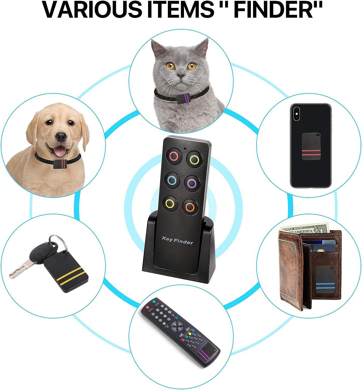 Key RF Locator 1 Transmitter with 6 Receivers Pet Tracker Wallet Tracker Wireless RF Item Locator Hyrrt Key Finder