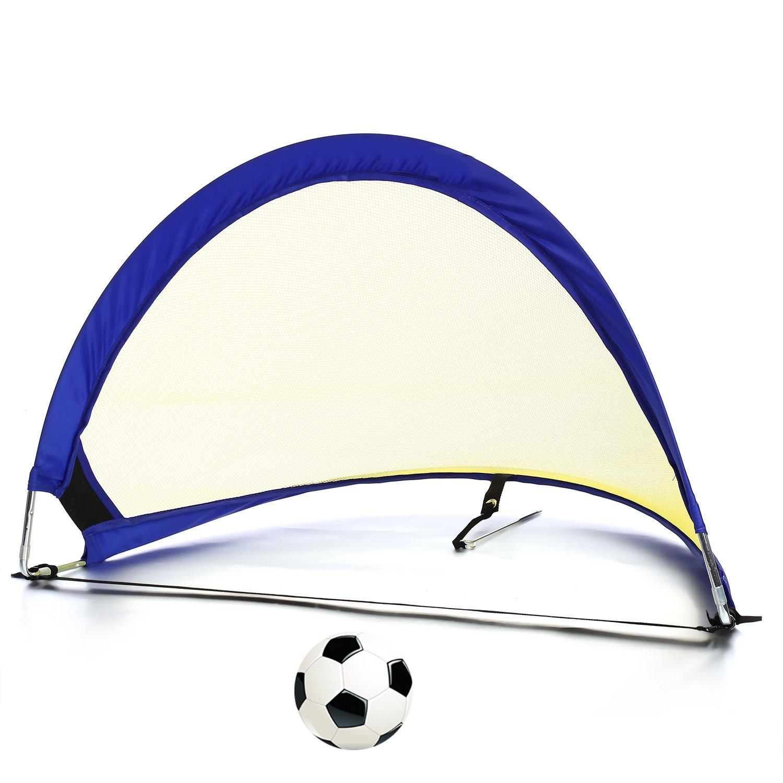 Pop Up Soccer Goalポータブルサッカーネット – サイズ2.5 '、4 ' 6 ' ( 2の目標+ 1 Carry Bag ) B07428JFMT 2.5 ft|イエローブルー イエローブルー 2.5 ft