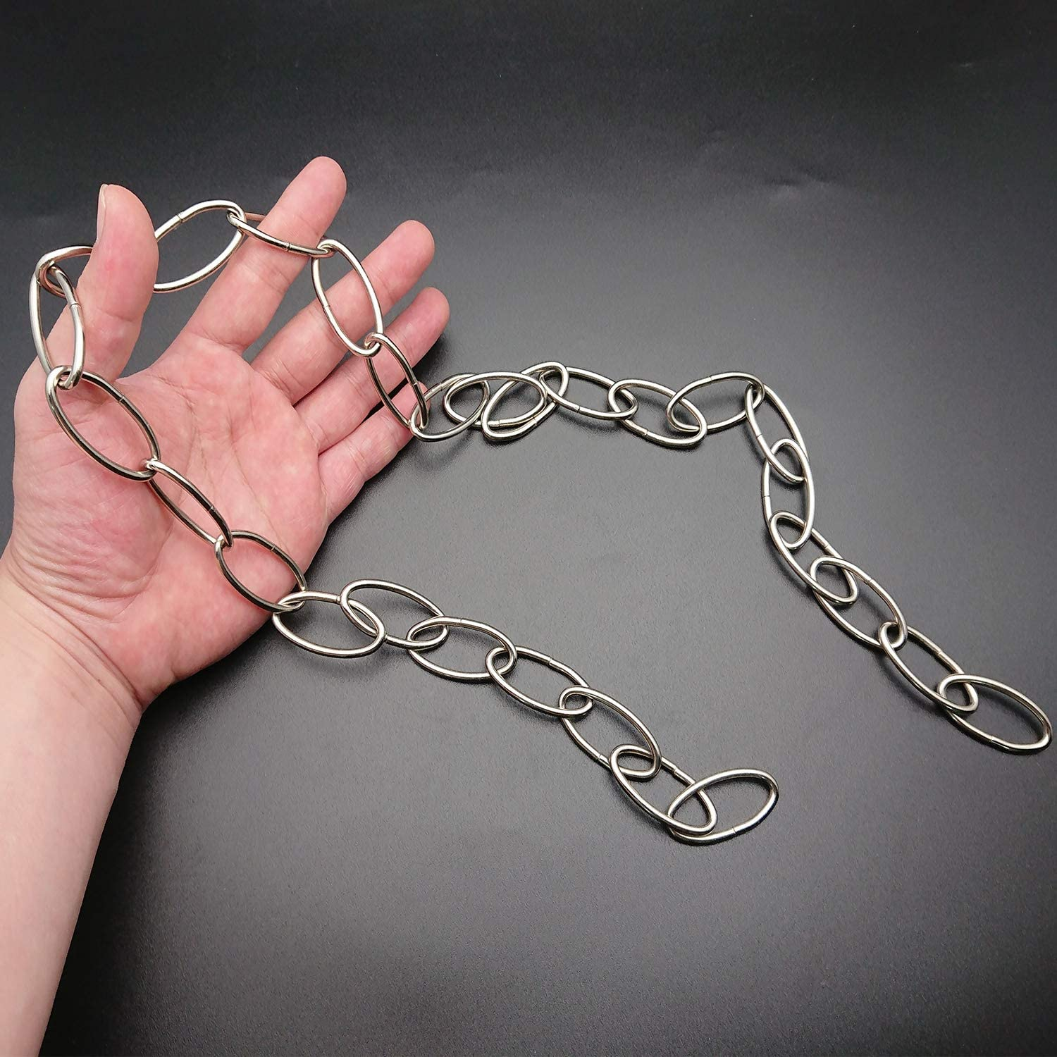 Nickel Plated Chain Extension Goiio 36 inches Long Decorator Chain Fixture Chain