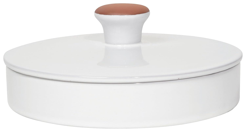 Now Designs Terracotta Tortilla Warmer, White 5087545aa