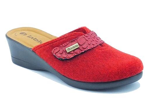 Pantofole donna inBlu in tessuto ciclamino con strappo