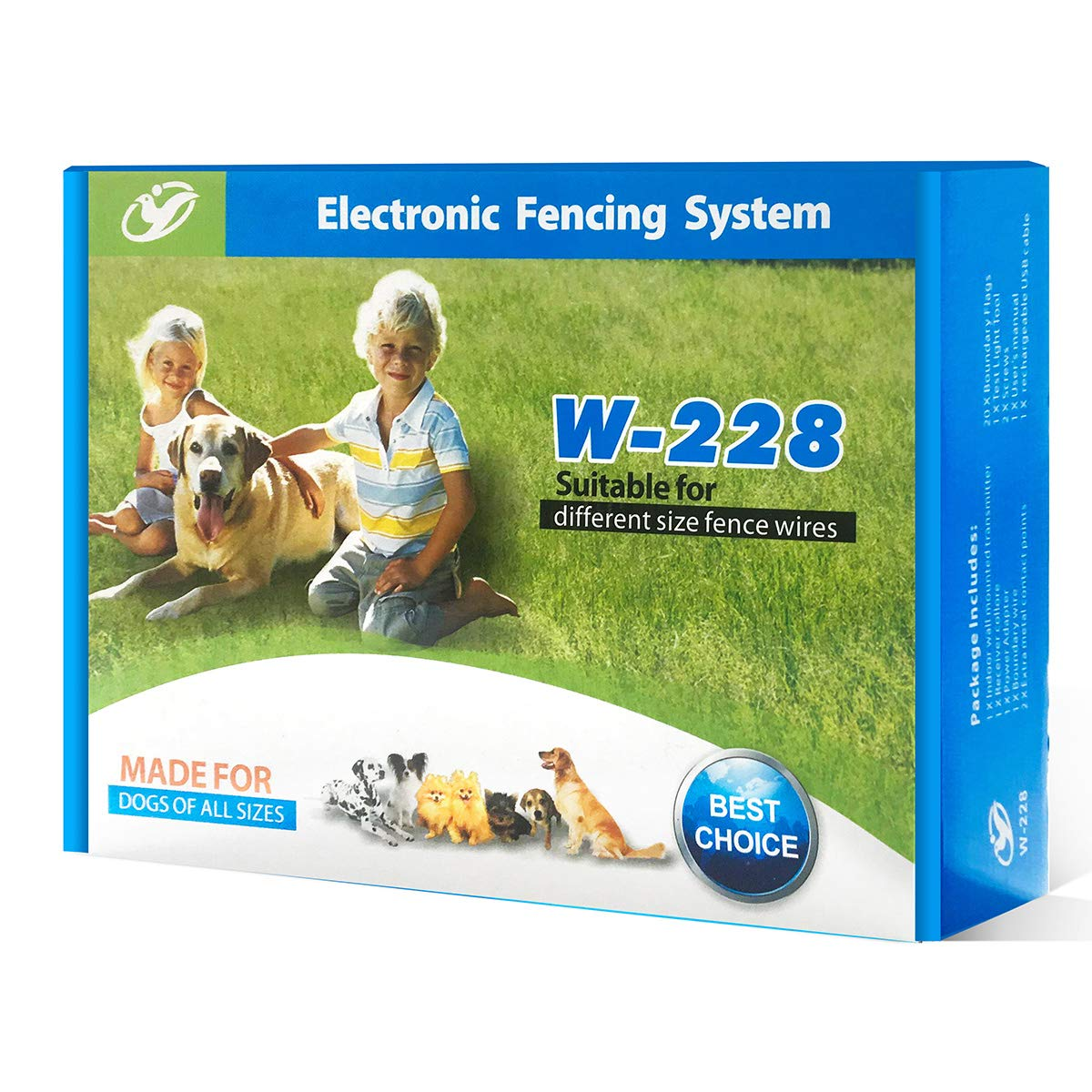 Wireless Fence For Dogs ,In-Ground Electric Dog Fence,Easy Installation Above Ground or Below Ground,Waterproof Wire and Collars