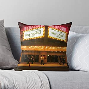 Night Guy Theaters Films Three Photography Images On Stooges of Time Marquees Ricketts Movies I Fsgflorence-The Most Impressive Printed Square Throw Pillow case for Home and car Sofa Decoration