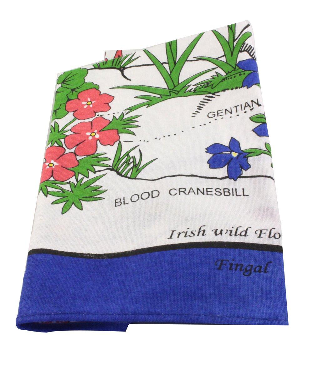 チャールズGallen Irish Linen Apron with Irish Wild Flowers   B01N6CSWJN