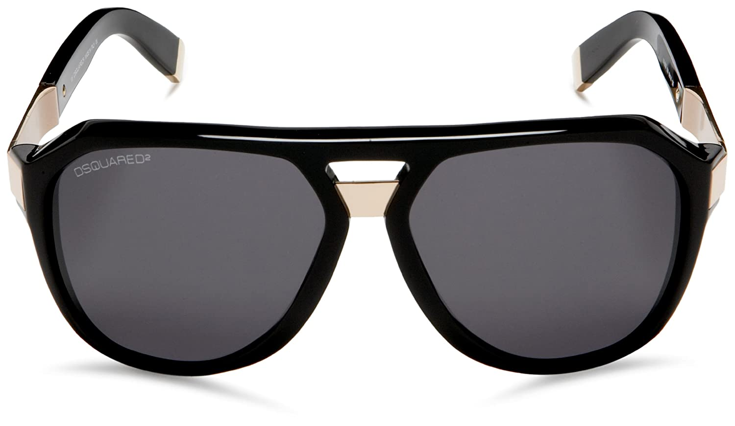 Amazon.com: Dsquared2 dq27 Aviator anteojos de sol, negro ...