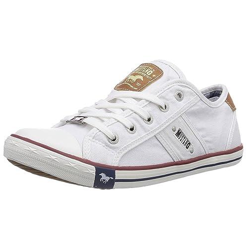 Mustang Shoes - Zapatillas para mujer blanco blanco: Amazon.es: Zapatos y complementos