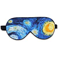 Alaska Bear Natural Silk Sleep Mask, Blindfold, Super Smooth Eye Mask (Starry Night)