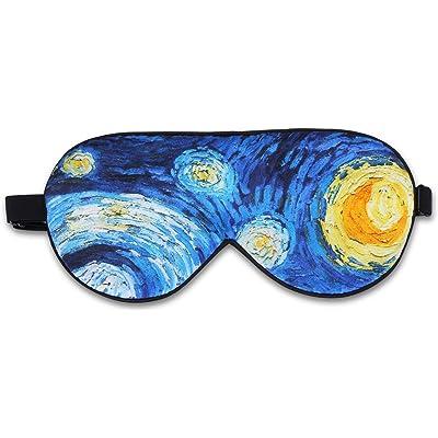 Alaska Bear - Máscara de seda natural para dormir, antifaz supersuave, Starry Night