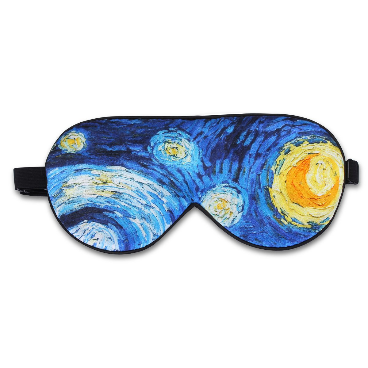 ALASKA BEAR® Natural silk sleep mask & blindfold, super-smooth eye mask (Starry Night)