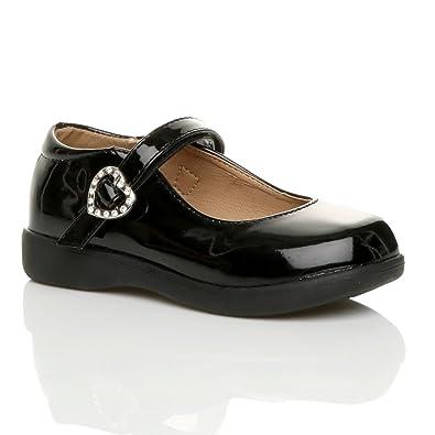 Mädchen Kleine Absatz Flach Mary Jane Formal Elegant Fesch Schuhe Größe 2 3Cy4skBbrl