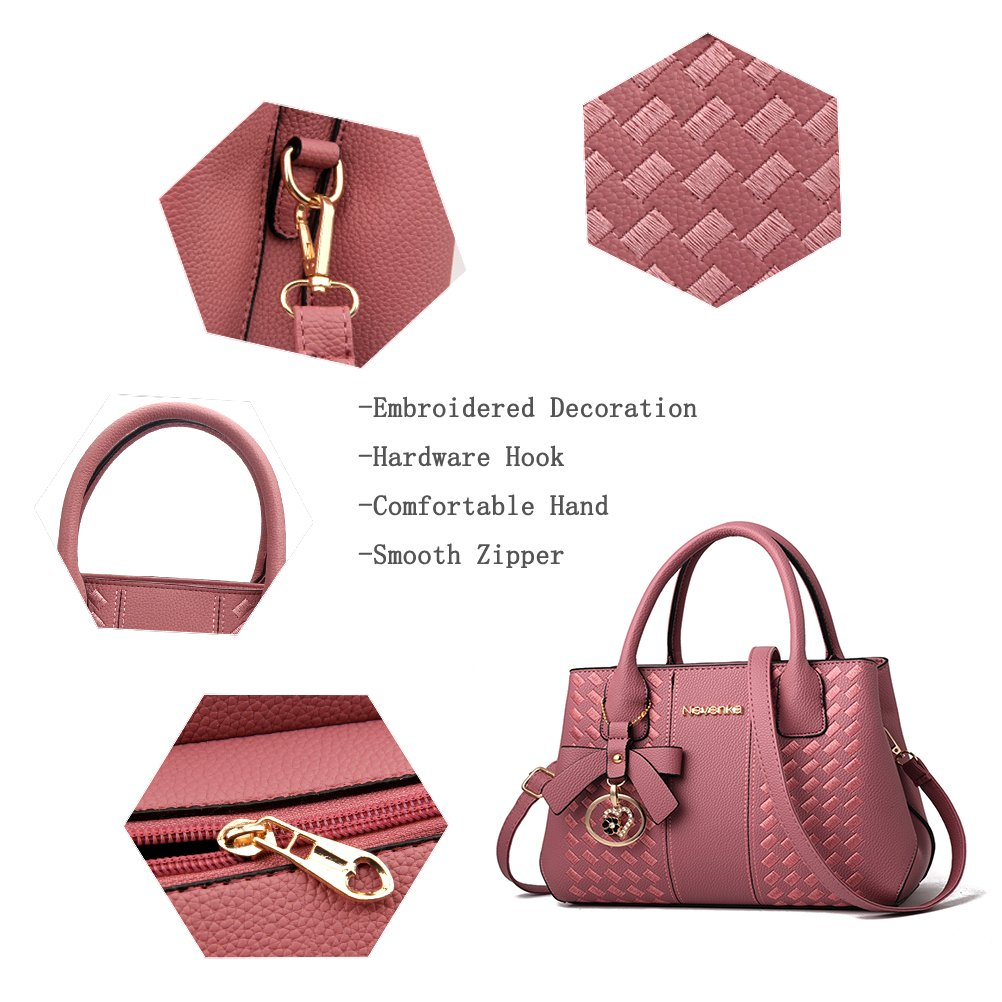 Handbags for Women Fashion Ladies Purses PU Leather Satchel Shoulder Tote Bags by Jeniulet (Image #7)