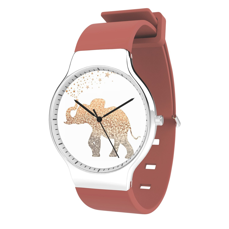 FELOOWSE Animel Men Watches Elephant Watch Men's Quartz Watches, Minimalist Slim Japanese Quartz Youth Silicone Watches, Fashion PracticalWaterproof Boys Watch Customized Watches