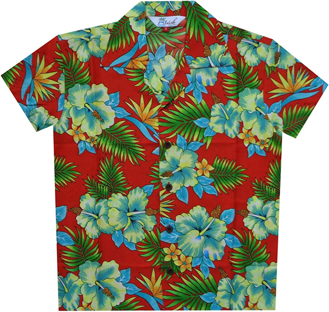 UK Men/'s Hawaiian Shirt Beach Aloha Summer Holiday Party Fancy Short Sleeve Tops