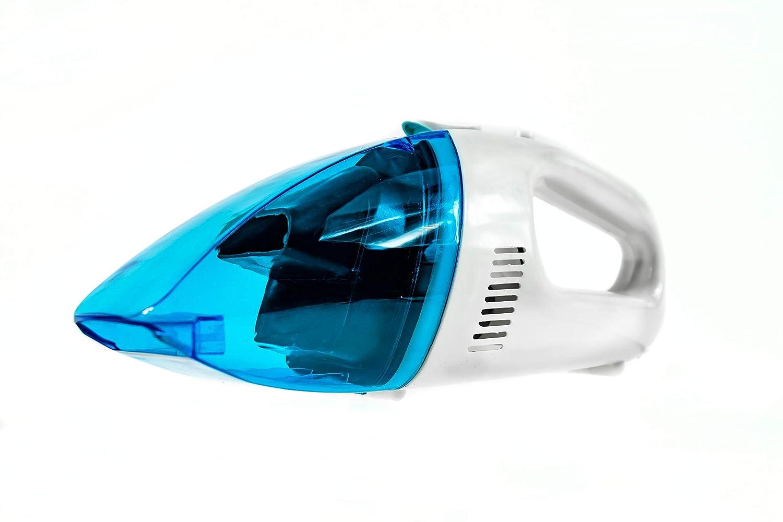 plastico Blanco y Azul Mesko Aspirador de Coche