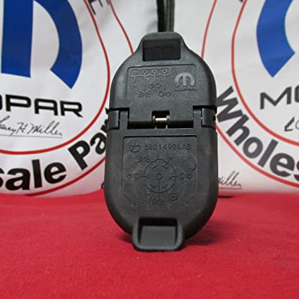 amazon com: dodge ram 1500 2500 3500 rear bumper trailer tow connector  mopar oem: automotive