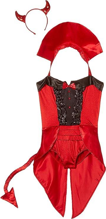 Leg Avenue 83943 NEW Demon Darling Adult Halloween Costume Devil Sequin Dress