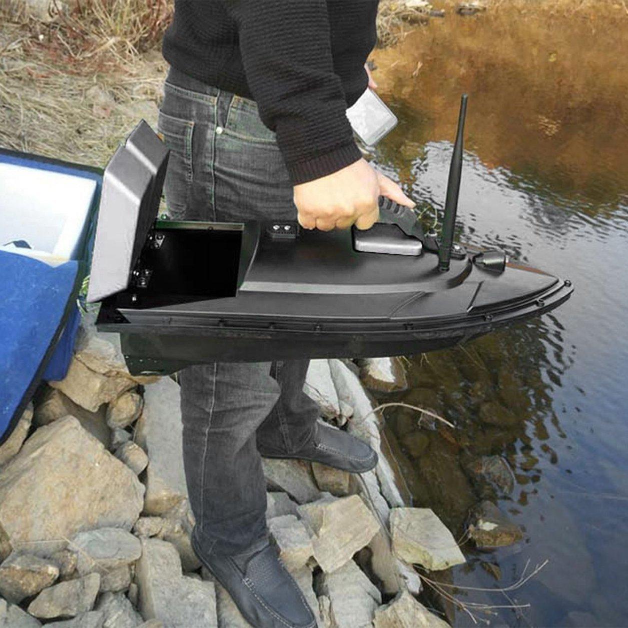 Dailyinshop Smart Fishing K/öder-Boot 500m Fernbedienung Fischfinder Boot 1.5kg Laden RC Boot Schiff Speedboat mit Doppel Motors